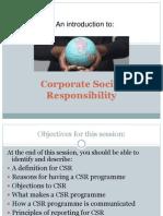 Chapter 3 (CSR)