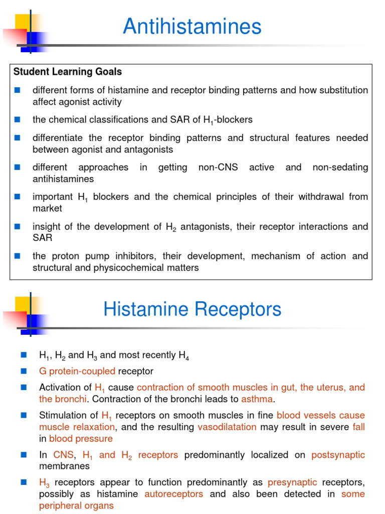 What is a non sedating antihistamines