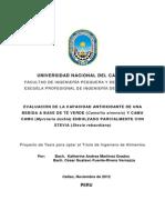 Proyecto Camu Camu - Te Verde - Stevia