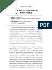 Max Horkheimer Social Function of Philosophy