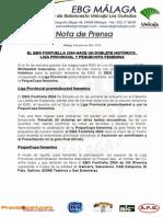 37.- Doblete Histórico Para Ebg en Preminibasket Femenino, Liga y Pequecopa
