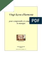 20 Harmony Lessons - Foucart - Fr