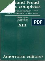 FREUD Sobre La Psicología Del Colegial 1914 Tomo XIII