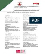 Faculty List 2012 of SIMSR
