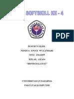 BISNIS DALAM IT - Tugas Softskill Nindya Anggi Wulandari- NPM 19110055