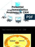 Potential Implementation Problems in CRM