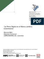 La Firma Digital en El Marco Jurídico Colombiano