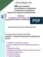Unidad 1 Fundamentos de Bases de Datos Primera Parte
