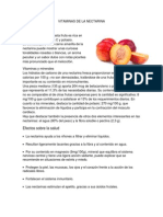 Vitaminas de La Nectarina y La Piña