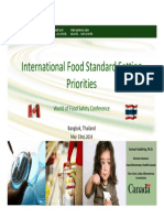 Trends in Food Safety Standard Development