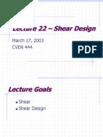 Design for Shear