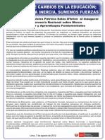 Conferencia Marco Curricular Educativo Peruano