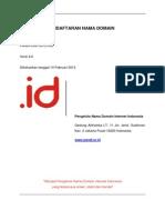 Kebijakan Pendaftaran Nama Domain (Versi 2.0)