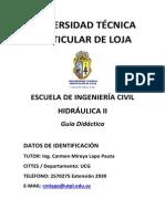 Formulas Ejercicios GUIA HIDRAULICA II