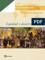 Banco Mundial 2006 Informe Sobre El Desarrollo Mundial Equidad y Desarrollo