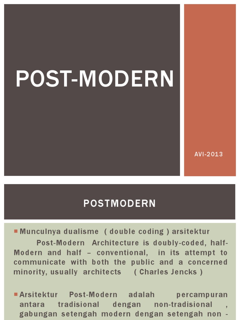 Postmodern 2013 Ppt