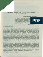 Origen y Significado de Las Estructuras en Levi Strauss