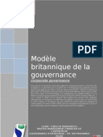 Le Modele Britannique de La Gouvernance