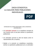 INFERENCIA ESTADISTICA. ESTIMACION PARA POBLACIONES INDIVIDUALES.ppt