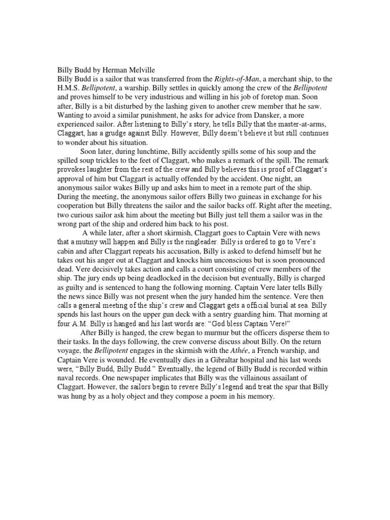 billy budd sailor summary