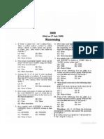 SBI AssociatePO Exam 27-07-2008 Solved Question Paper 1