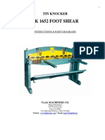 Tk 1652 Foot Shear