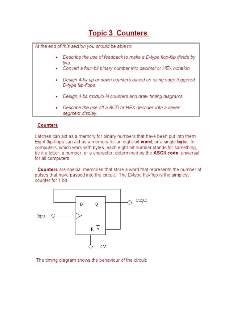 Fe Counters Topic 3 Electronic Circuits Arithmetic D Ff Circuit Diagram