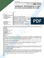 NBR 11816_03 - Esterilização - Esterilizadores a Vapor Com Vácuo, Para Produtos de Saúde - 10pag