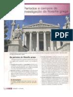 Períodos e Campos de Investigação Da Filosofia Grega