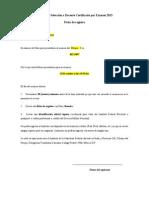 Proceso de Selección a Docente Certificado Por Examen 2013
