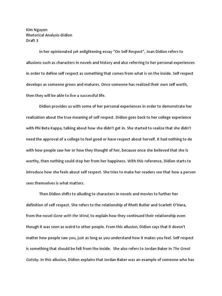 rhetorical analysis didion draft 3