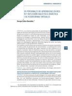 Entornos PErsonalEs de AprEndizajE en REd Relacion y Reflexion Dialectico-didáctica