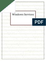 Windows Services (sample work)