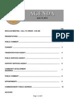 Agenda  6-10-2014