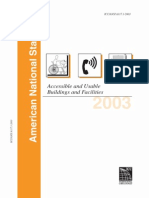 2003 ANSI Accessible and Usable Buildings and Facilities