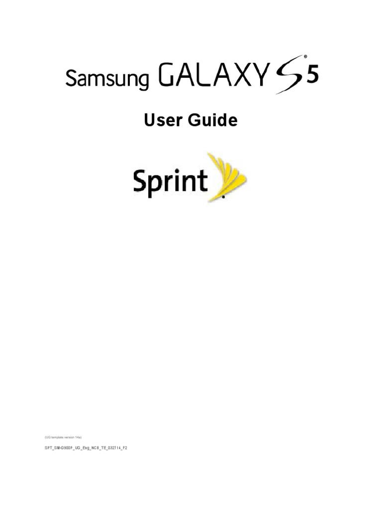Sprint Samsung Galaxy S5 User Manual Sm G900p Kitkat English