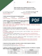 FICHA DE GRAMÁTICA 2ª junho 2014 7º ano+correçao
