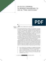 Al Filo de La Impunidad. La Inmunidad Parlamentaria... by Fernando Dworak
