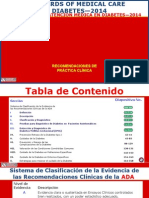 Standards of Medical Care in Diabetes - Classification and Diagnosis 2014 22-05-2014