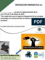 Democratizacion Energetica y Ley 2715 Alpidio Godoy