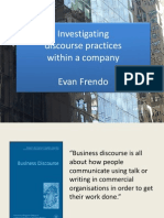 Investigating Discourse Practices Within a Company (1)
