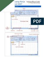Komponen Ruang Kerja Excel 2007