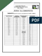 Prova ESAF - MPU - Agente Técnico Administrativo - 2004 (Gabarito)