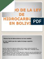 Estado de La Ley de Hidrocarburos en Bolivia