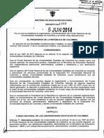 Decreto 1050 Del 05 de Junio de 2014