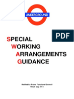 Special Working Arrangements Guidance