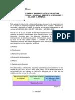 Orientaciones Para La Implementacic3b3n de Un Sistema Integrado de Gestic3b3n de La Calidad Ambiental y Seguridad y Salud en El Trabajo Inin