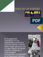 Seguridad en el  trabajo en Colombia