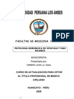Patologia Quirurgica de Vesicula y Vias Biliares