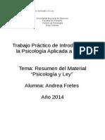 Introduccion a La Psicologia Aplicada a La Ley- Trabajo Practico